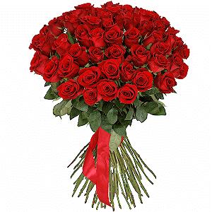51 красная роза премиум с доставкой в Воронеже