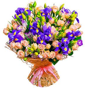 Дизайнерский букет +30% цветов с доставкой в Воронеже