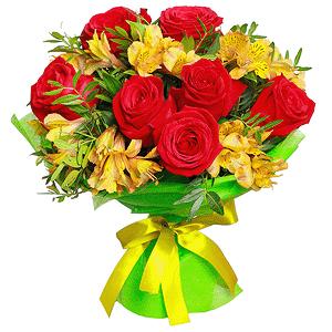 Счастливый мишка +30% цветов с доставкой в Воронеже
