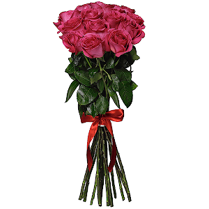 Букет из  розовых роз - премиум