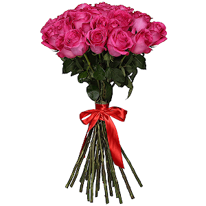Букет из 43 розовых роз - премиум
