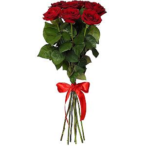 Букет из 7 красных роз - премиум